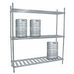 "Advance Tabco KR-80 (3) Level Keg Rack w/ (8) Keg Capacity, 80"" x 20"" x 76"""