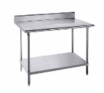 Advance Tabco KSS-240 30-in Work Table w/ 5-in Splash, All 14/304 Stainless, 24-in Wide