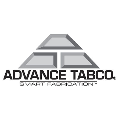 "Advance Tabco KTMS-2412 144"" L Shape Work Table - 5"" Backsplash, 24"" W, 14-ga 304 Stainless"