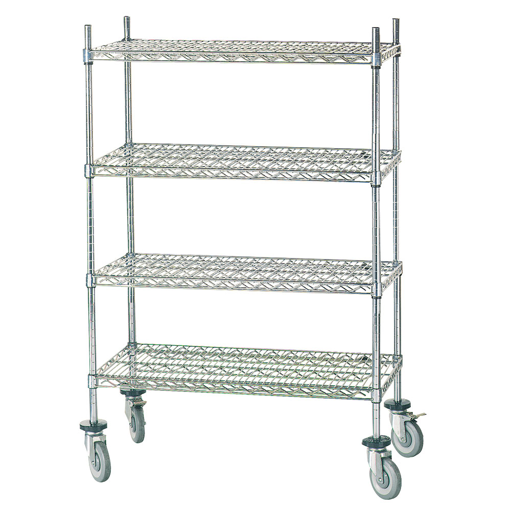 Advance Tabco MC-2448R Chrome Wire Shelving Unit w/ (4) Levels, 24x48x64""