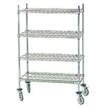 Advance Tabco MC-2460P Chrome Wire Shelving Unit w/ (4) Levels, 240x60x64""