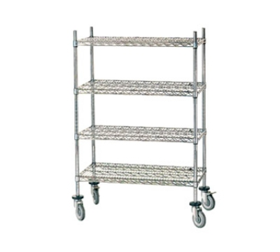 Advance Tabco MC-2436P Stem Caster Cart 4 Chrome Shelves 24 in W X 36 in L 64 in Post Poly Casters Restaurant Supply