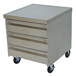 """Advance Tabco MDC-4-2015 Mobile Cabinet - (4) 20x15"""" Drawers, Stainless Top"""