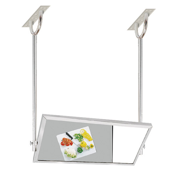 Advance Tabco MI-60 Tilting Demo Mirror, Ceiling Mount, 24x60, 4 Ft Long, Stainless Steel