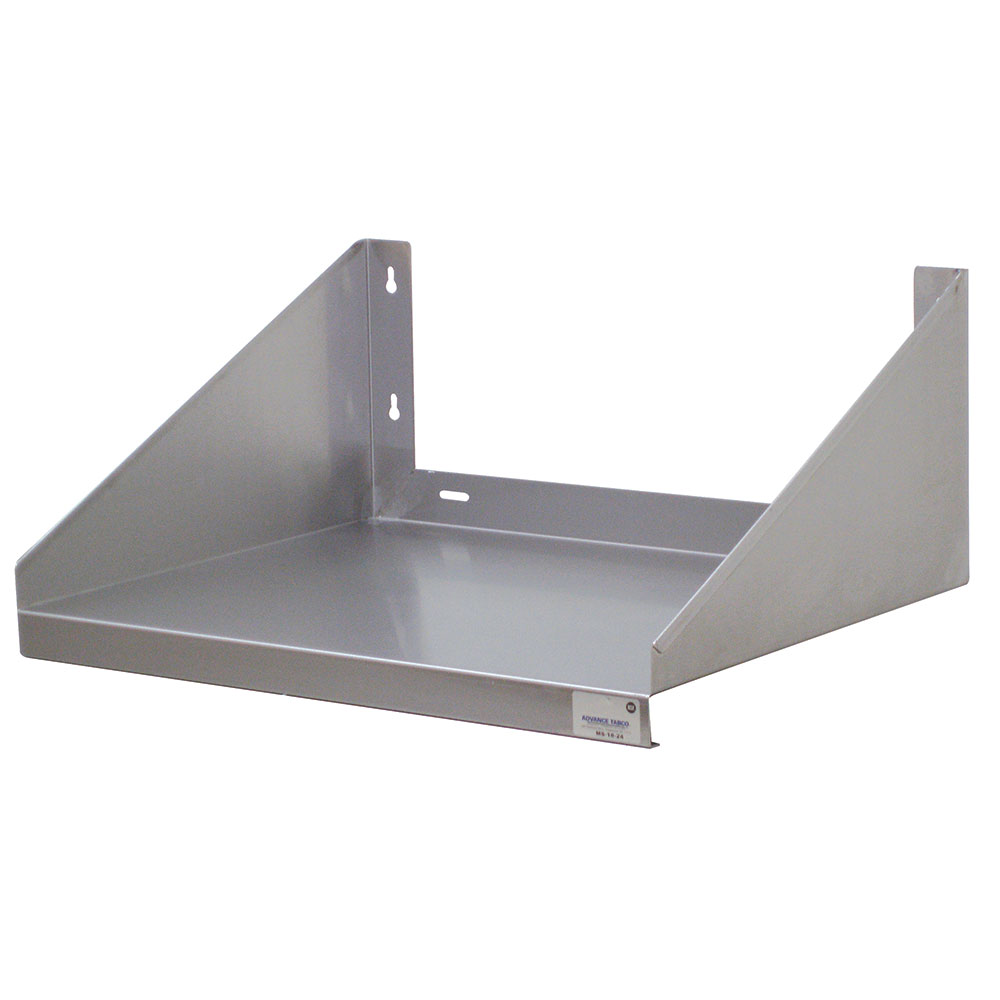 "Advance Tabco MS-24-24 24"" Microwave Wall Shelf - 24"" W, Stainless"