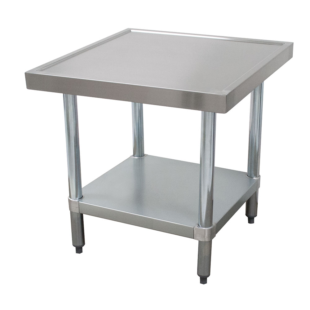"Advance Tabco MT-GL-300 24"" Mixer Table w/ Galvanized Undershelf Base & Marine Edge, 24""D"