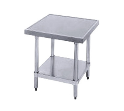 Advance Tabco MT-GL-300 Equipment Stand 30 x 30 24 in High S/S Top Galvanized Legs and Undershelf Restaurant Supply