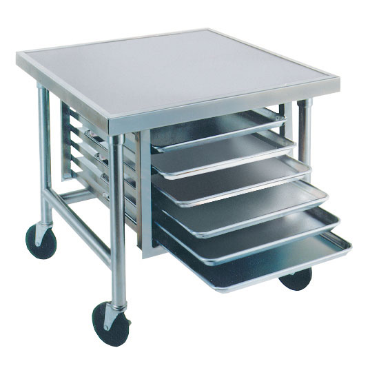 """Advance Tabco MT-MS-300 30"""" Mixer Table w/ All Stainless Pan Slide Base, Mobile, 30""""D"""