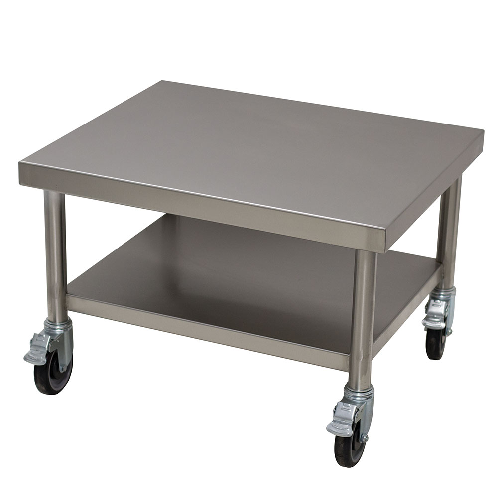 """Advance Tabco MT-SS-250C-X 25"""" x 30"""" Mobile Equipment Stand w/ Undershelf, Stainless"""