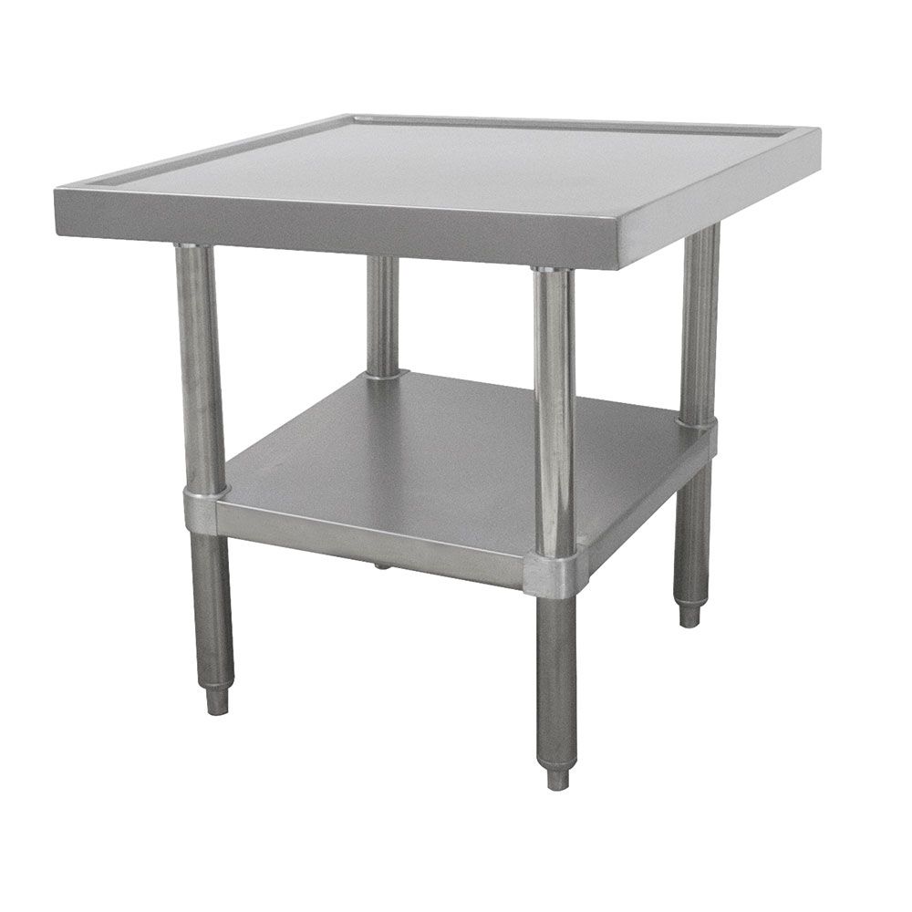 "Advance Tabco MT-SS-302 24"" Mixer Table w/ All Stainless Undershelf Base & Marine Edge, 30""D"