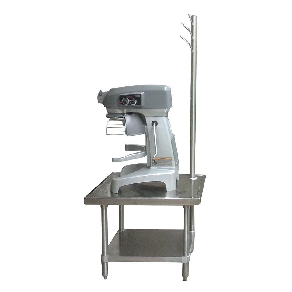 "Advance Tabco MX-GL-363 36"" Mixer Table w/ Galvanized Undershelf Base & Utensil Rack, 36""D"