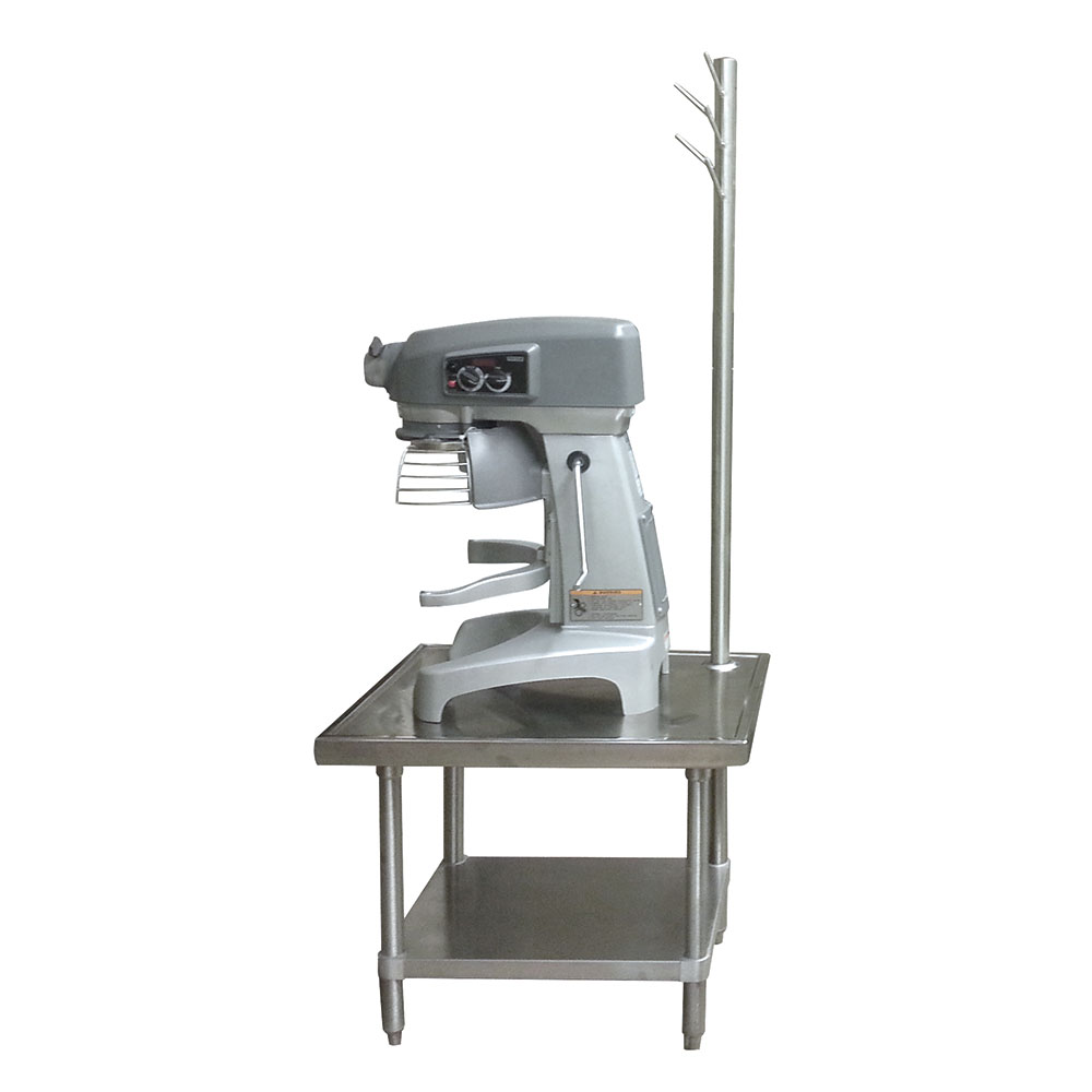 "Advance Tabco MX-SS-303 36"" Mixer Table w/ All Stainless Undershelf Base & Utensil Rack, 30""D"