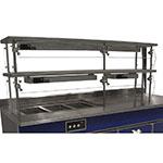 "Advance Tabco NDSG-18-48 Self Service Food Shield - 2-Tier, 18x48x26"", Stainless Top Shelf"