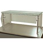 "Advance Tabco NSG-12-144 Self Service Food Shield - 1-Tier, 12x144x18"", Stainless Top Shelf"