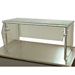 "Advance Tabco NSG-12-72 Self Service Food Shield - 1-Tier, 12x72x18"", Stainless Top Shelf"