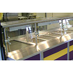"Advance Tabco NSGC-15-144 Cafeteria Style Food Shield - 15x144x18"", Stainless Top Shelf"