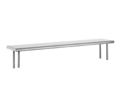Advance Tabco OTS-10-36R Table Mounted Shelf Single Deck w/ Rear Turn Up 10 x 36 in L 18 Gauge 430 SS Restaurant Supply