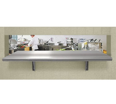 Advance Tabco PA-24-132 Pass Thru Shelf 24 in W X 132 in L SS Shelf and Brackets Restaurant Supply