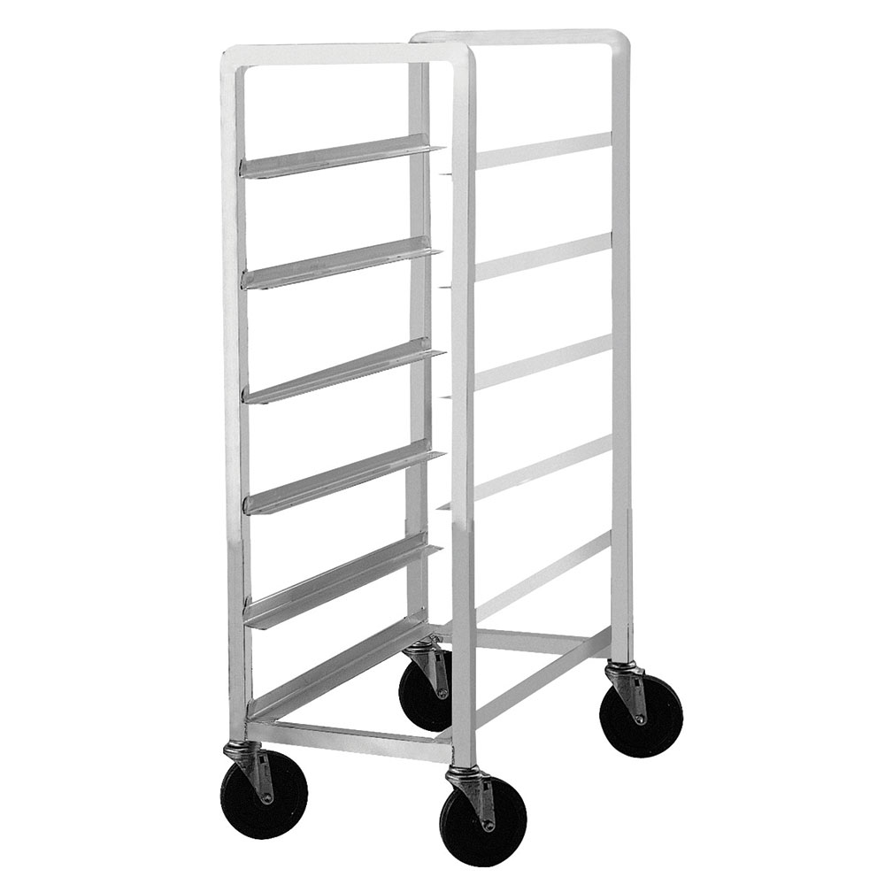 """Advance Tabco PL6-12 Mobile Platter Rack - Holds (6) 12.5"""" Platters, Intermediate Height, Aluminum"""