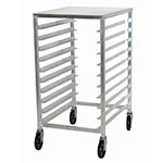 "Advance Tabco PR10-3PT Mobile Pan Rack - Holds (10) 18x26"" Pans, Intermediate Height, Poly Top"