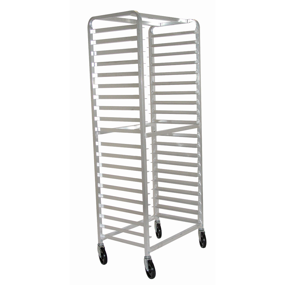 "Advance Tabco PR106WS Mobile Pan Rack - Holds (10) 18x26"" Pans, Full Height, Side Load"
