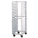 "Advance Tabco PR12-5W Mobile Pan Rack - Holds (12) 18x26"" Pans, Full Height, Front Load"