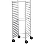 "Advance Tabco PR18-3KS Mobile Pan Rack - Holds (18) 18x26"" Pans, Ribbed Angle, Side Load"