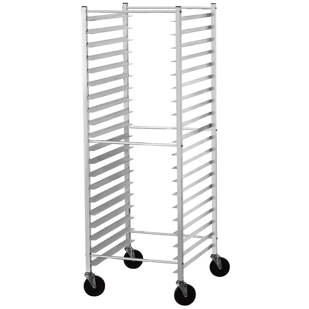 "Advance Tabco PR20-3KS Mobile Pan Rack - Holds (20) 18x26"" Pans, Ribbed Angle, Side Load"