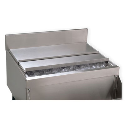 "Advance Tabco PRA-SSC-42 Sliding Cover for 42"" Ice Bin, 19"" Series, Stainless"