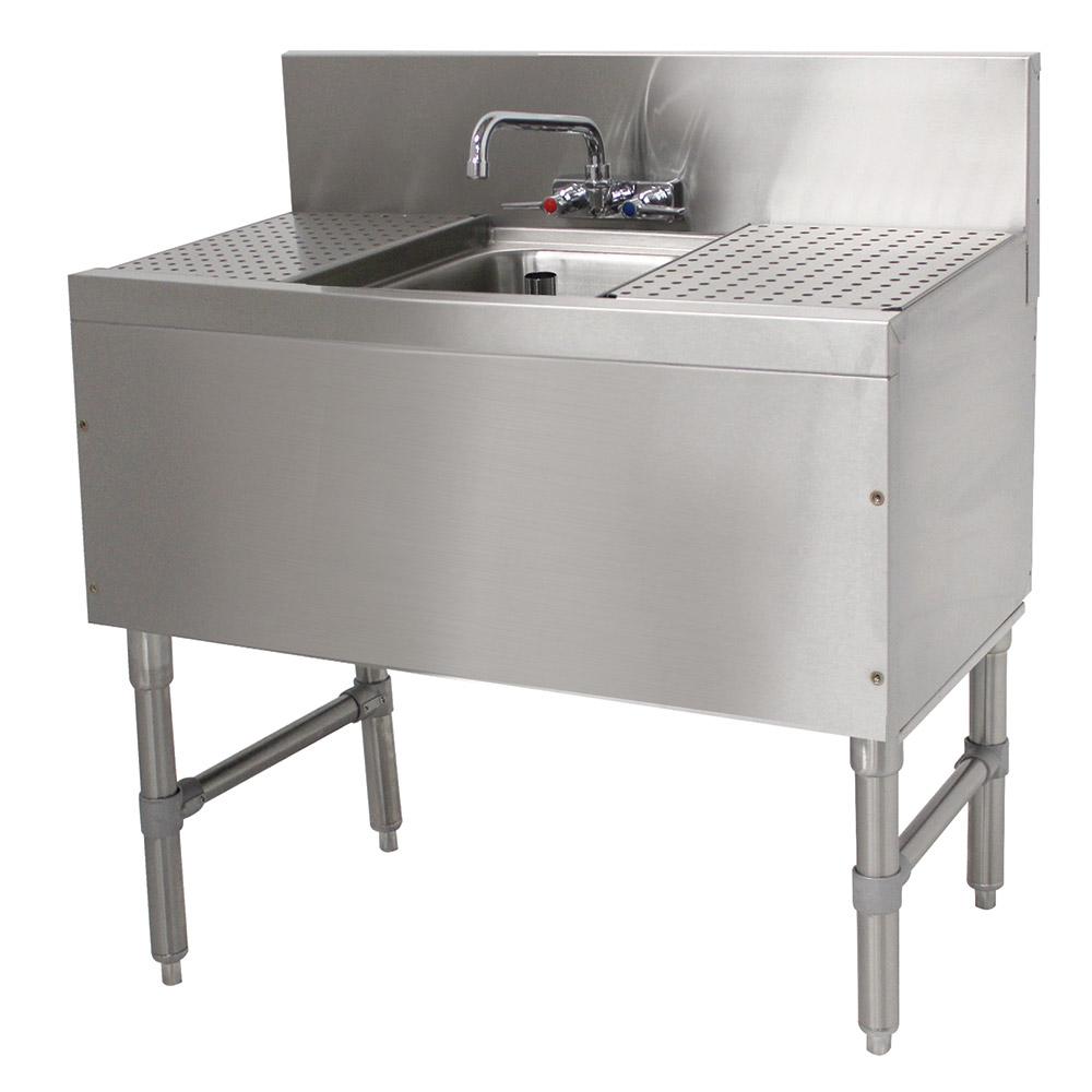 """Advance Tabco PRB-19-31C 36"""" 1-Compartment Sink w/ 10""""L x 14""""W Bowl, 10"""" Deep"""