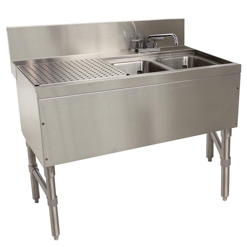 """Advance Tabco PRB-24-32R 36"""" 2-Compartment Sink w/ 10""""L x 14""""W Bowl, 10"""" Deep"""