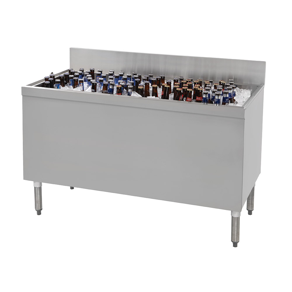 """Advance Tabco PRBB-60 60"""" Ice Well Bottle Cooler - Holds (432) 12-oz Bottles"""
