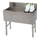 """Advance Tabco PRC-19-42L 42"""" Ice Chest w/ Right Bottle Storage Rack, No Coldplate, 98/32-lb Ice"""