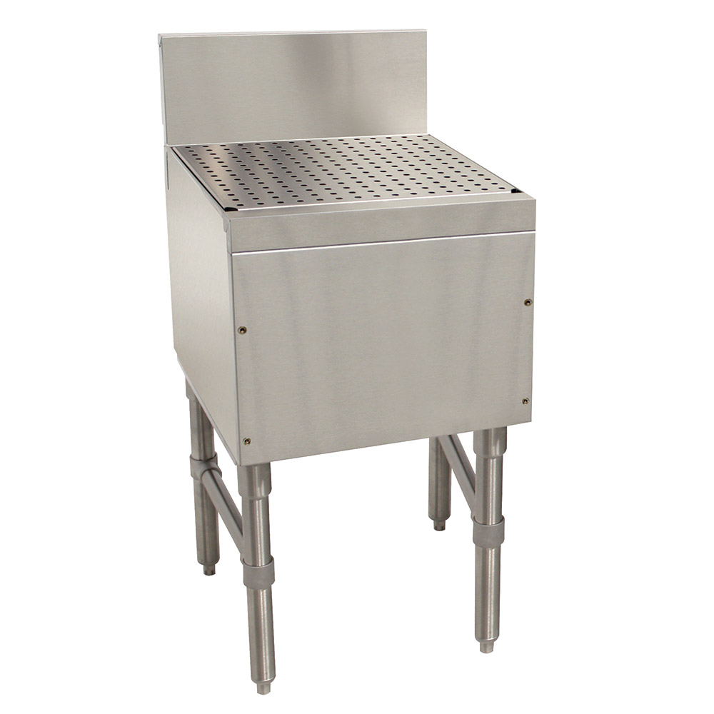 """Advance Tabco PRD-19-18 18"""" Free Standing Drainboard w/ 1"""" Drain, 19"""" Front To Back"""