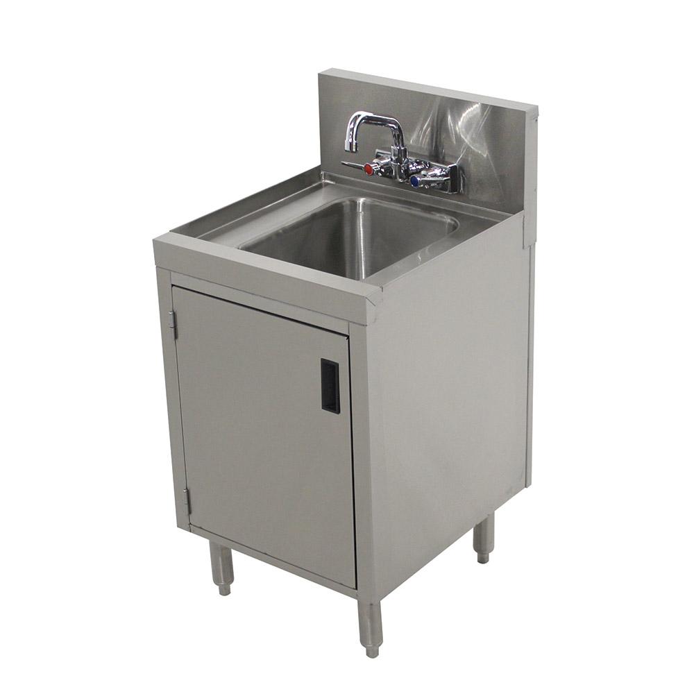 """Advance Tabco PRHSC-19-12 Cabinet Base Commercial Hand Sink w/ 14""""L x 10""""W x 10""""D Bowl, Standard Faucet"""