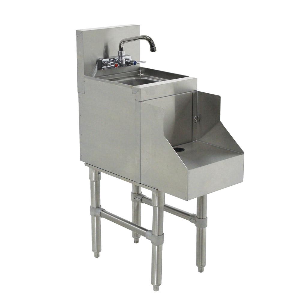 """Advance Tabco PRRS-19-12 12"""" Blender Recess Station w/ Dump Sink, Splash Mount, 24"""" Front To Back"""