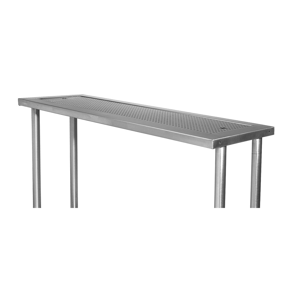 """Advance Tabco PRSO-44 40"""" Single Table Mounted Overshelf for Large Station, Stainless"""