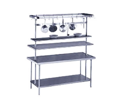 Advance Tabco PT-18-60 Table Mounted Shelf Single Deck 18 in W 60 in L SS Mid-Mounted Restaurant Supply