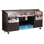 Advance Tabco R8B7 96-in Portable Bar w/ Twin Ice Bins, 7-Circuit Post Mix Cold Plate