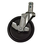"Advance Tabco RA-26 Bolted Stem Caster With Brake, 5"" Diameter"