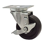 "Advance Tabco RA-35 4"" Plate Caster w/ Brake"