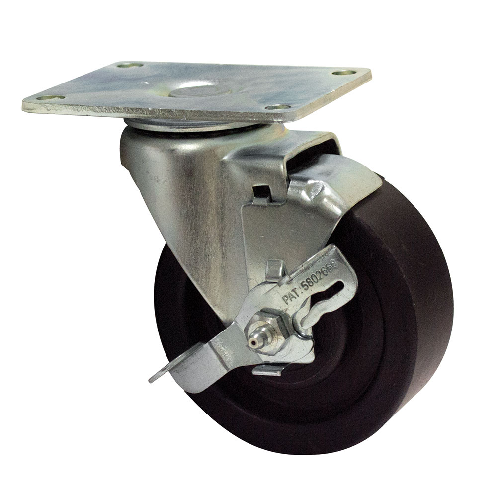 "Advance Tabco RA-45 4"" Plate Caster w/ Brake"