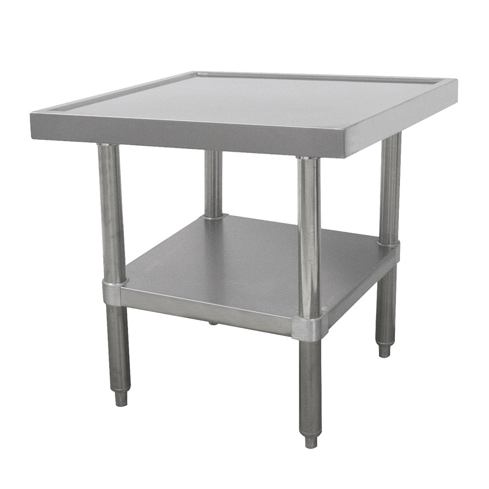 "Advance Tabco SAG-MT-242 24"" Mixer Table w/ All Stainless Undershelf Base & Marine Edge, 24""D"