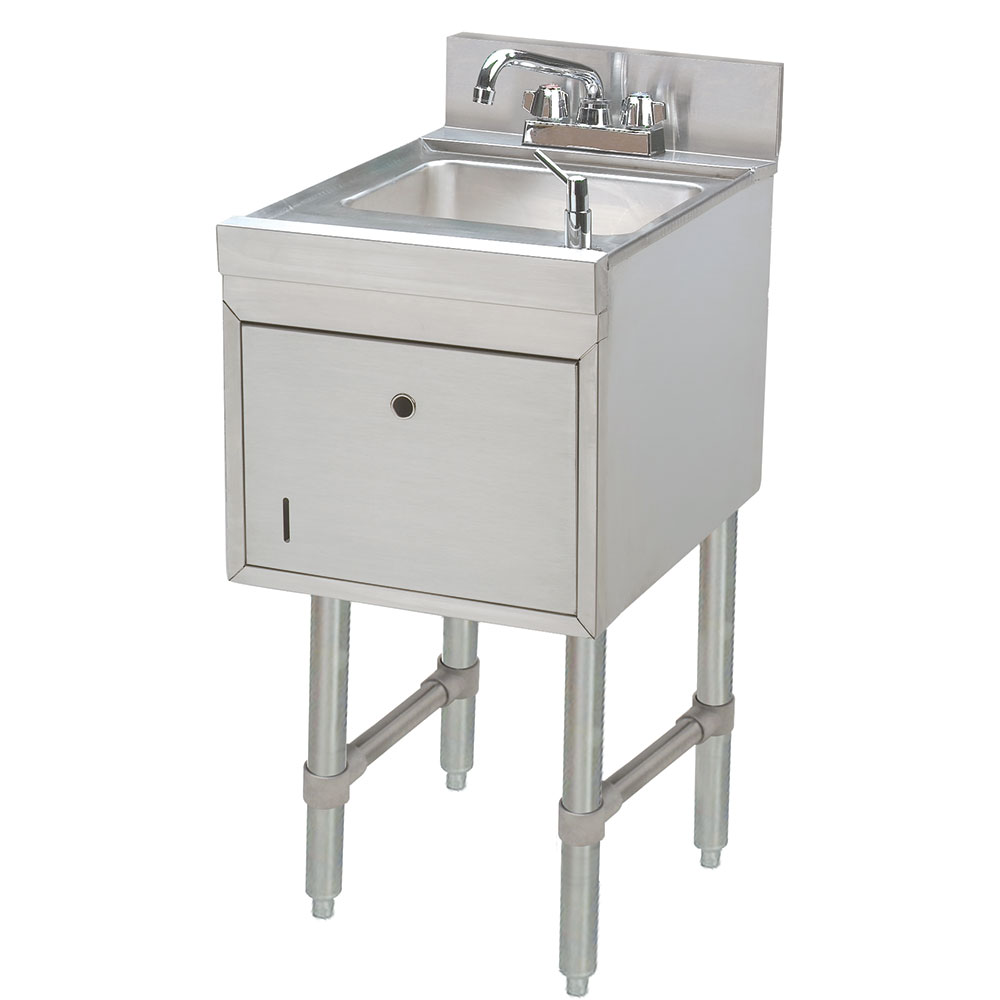 "Advance Tabco SC-15-TS Under Bar Sink - 9-1/2x11-1/2x6"" Bowl, Soap & Towel Dispenser, Faucet"
