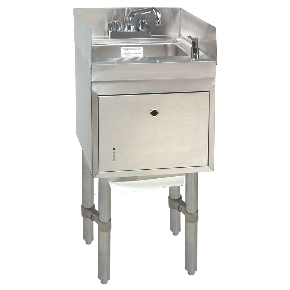 "Advance Tabco SC-15-TS-S Commercial Hand Sink w/ 9""L x 9""W x 4""D Bowl, Soap Dispenser"