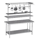 "Advance Tabco SCT-120 120"" Table-Mount Pot Rack w/ (18) Hooks, Stainless Steel"
