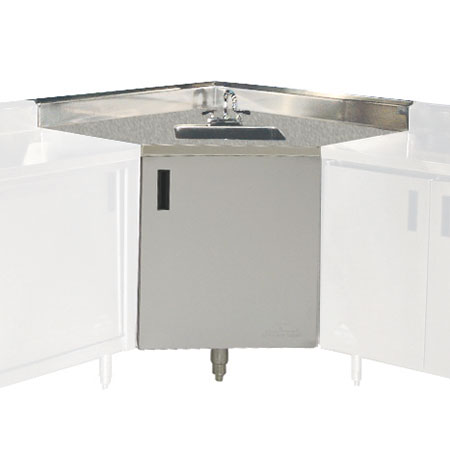 "Advance Tabco SHK-1735 Cabinet Base Commercial Hand Sink w/ 14""L x 10""W x 10""D Bowl, Basket Drain"