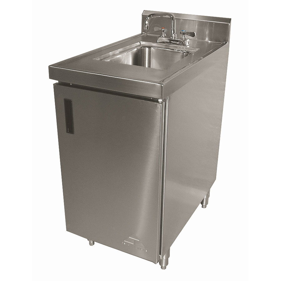 "Advance Tabco SHK-302 Cabinet Base Commercial Hand Sink w/ 14""L x 10""W x 10""D Bowl"