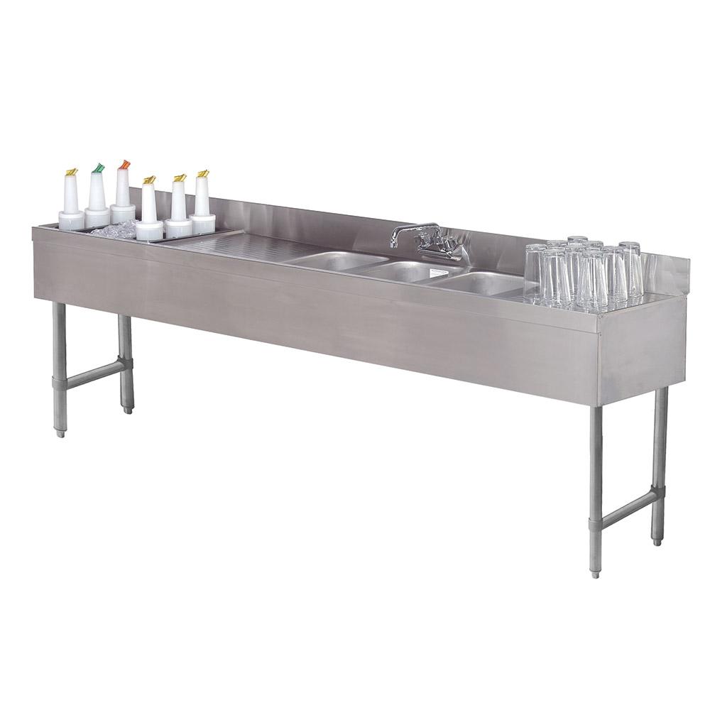"""Advance Tabco SLC-73C-L 84"""" 3-Compartment Sink w/ 10""""L x 14""""W Bowl, 10"""" Deep"""