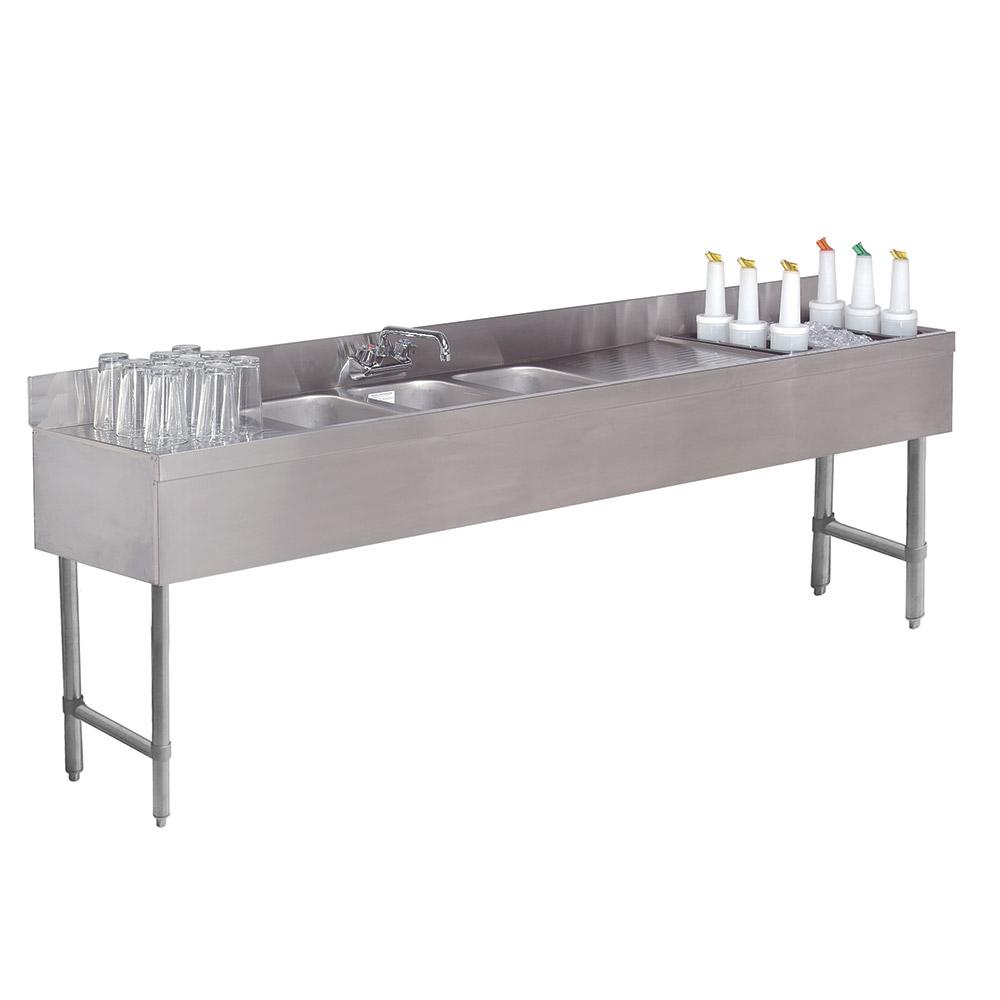 "Advance Tabco SLC-73C-R 84"" 3-Compartment Sink w/ 10""L x 14""W Bowl, 10"" Deep"